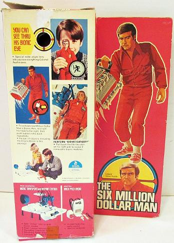 The Six Million Dollar Man doll - outer packaging - box