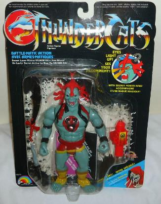 Original 1980s Thundercats Mumm-Ra action figure with light-up eyes