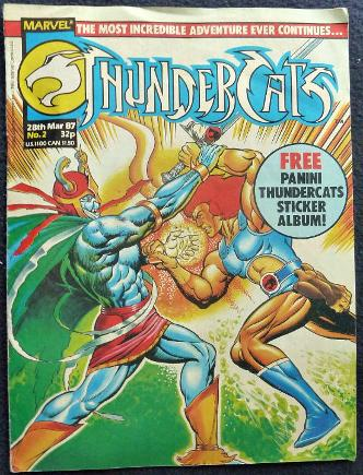Thundercats comic No.2 by Marvel - 28th March 1987