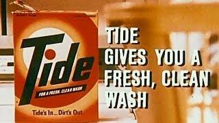 Tide washing powder 1970 TV advert