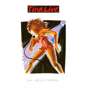 Tina Live In Europe (1988) album sleeve