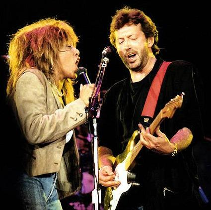 Tina Turner and Eric Clapton at Wembley Arena (June 1987)