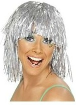 Silver Tinsel Wig for girls