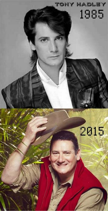 Tony Hadley in 1985 and 2015 in