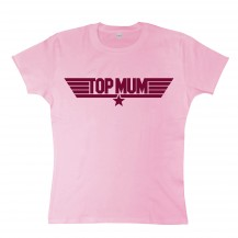 Ladies Top Mum Top Gun Pink Tee