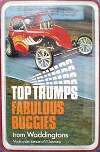 Top Trumps Fabulous Buggies (1982) by Waddingtons