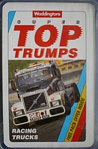 Waffingtons Super Top Trumps (1992) - Racing Trucks