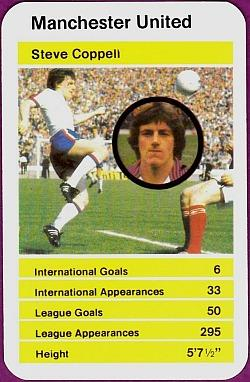 Steve Coppell - Manchester United (1982) Top Trumps card