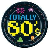 Totally 80s gaming theme paper plates