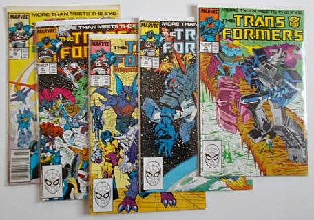 Set of Marvel Transformers comics from the 1980s