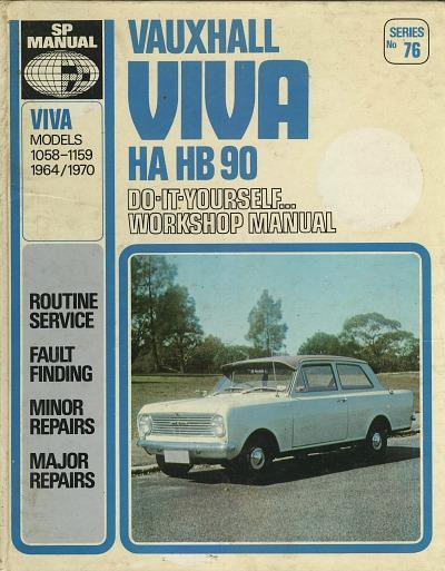 Vauxhall Viva HA HB90 D.I.Y. Workshop Manual