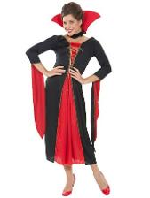 Vicky Vampiress Gown Costume Ladies