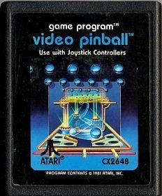 Video Pinball game cartridge for the Atari 2600 console