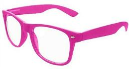 Pink clear lens Wayfarers by Boolevard Cosmetics Ltd