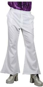 White Disco Flares for Men