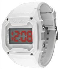 Shark - White Watch with red LED display