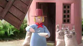 Windy Miller eating porridge in Camberwick Green