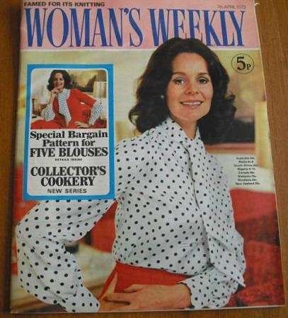 70s Woman's Weekly magazine - 7th April 1973