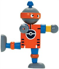 Wooden Flexi Robot Toy