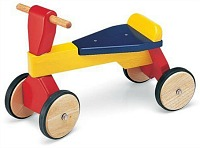 Traditional wooden trike for toddlers