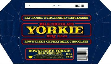 Old Yorkie Chocolate Bar Wrapper