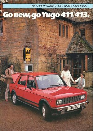 Yugo 411/413 brochure early 80s