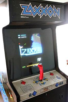 Zaxxon upright arcade machine by Sega (1982)