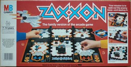 Zaxxon Board Game (1982) MB Games