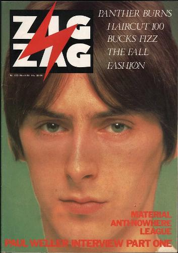 Paul Weller on the cover of Zig Zag magazine in March 1982