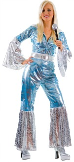 blue and silver ABBA costume