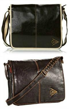 Dunlop Retro Leather-look Messenger Bags