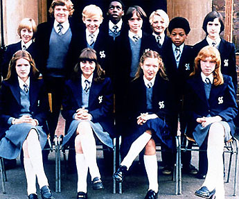 Grange Hill pupils from the 70s
