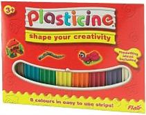 Plasticine - 8 colour strips