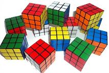12 mini Rubik's cubes - perfect for an 80s party!