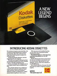 Kodak Diskettes advert 1980s
