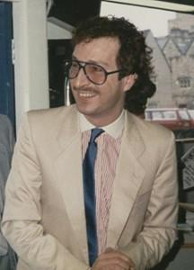 DJ Steve Wright in the 1980's wearing big glasses