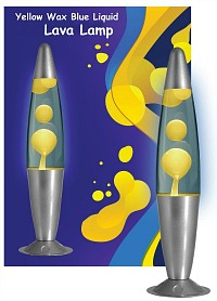 Yellow Liquid Lava Lamp - 60s Toy