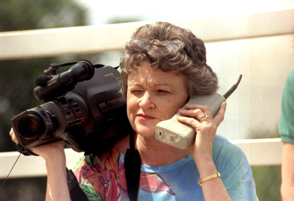 1985 video camera and phone (public domain image)