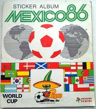 Panini Mexico '86 World Cup sticker album