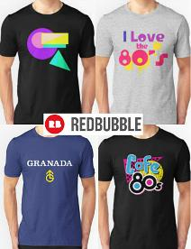 80s T-shirts Collage