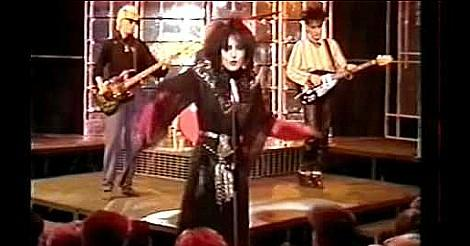Siouxsie and the Banshees performing