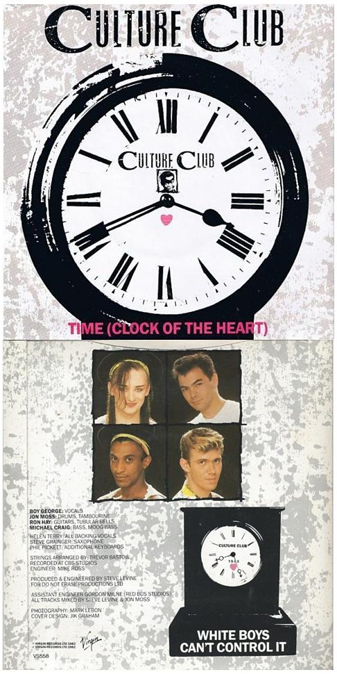Time (Clock of the Heart) UK 7 inch vinyl (1982) front and rear sleeve