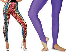 80s Style Leggings and Stirrup Dance Tights