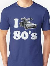 I Love the 80's DeLorean T-shirt
