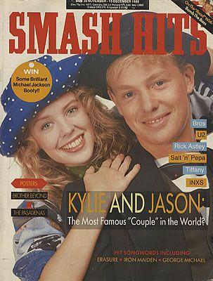 Kylie and Jason on the cover of Smash Hits 1988