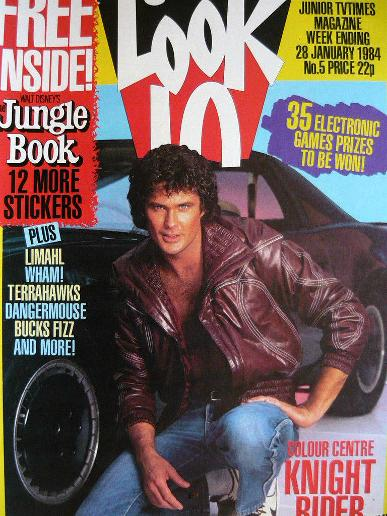 Look-In magazine Jan 1984 ft. David Hasselhoff - Knight Rider