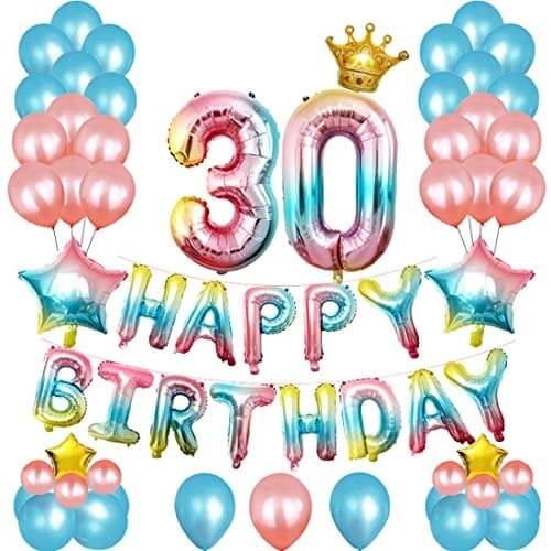 30th Birthday Party Balloons Set
