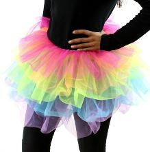 80s 5 Layer, multi-coloured tutu skirt