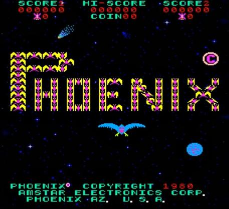 Phoenix arcade game title screen