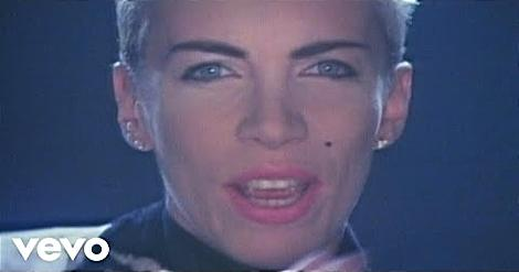 Sisters Are Doin' It For Themselves video screenshot ft. Annie Lennox face close-up